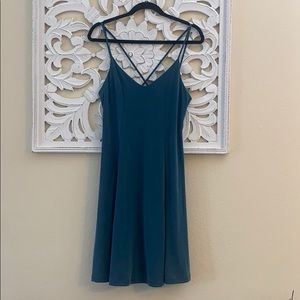 NWT Francesca's Teal Strappy Swing Dress